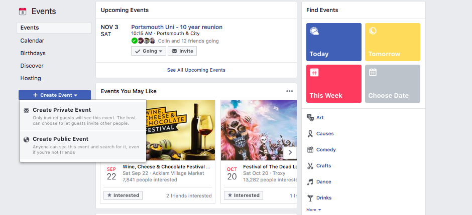 how to turn off seen on facebook events