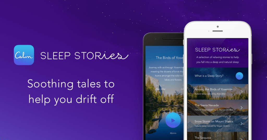 Calm's Sleep Stories feature