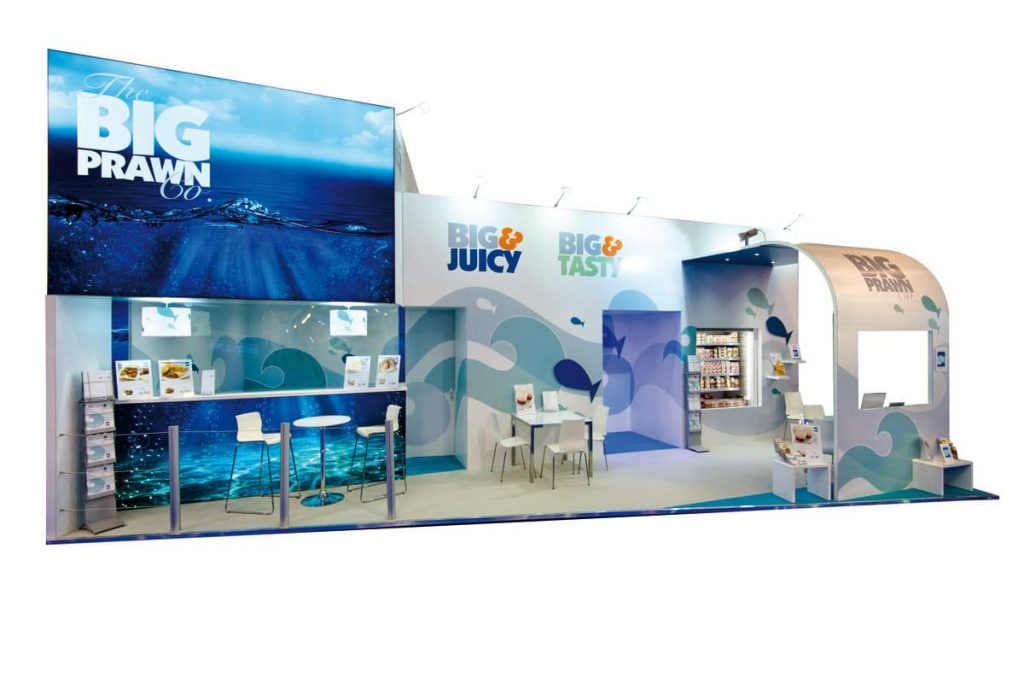 graphics on an exhibition stand design