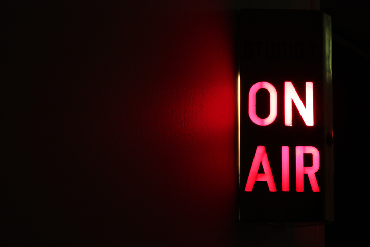 On Air sign -podcast blog