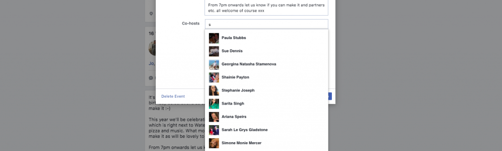 How to add a co-host to your Facebook event