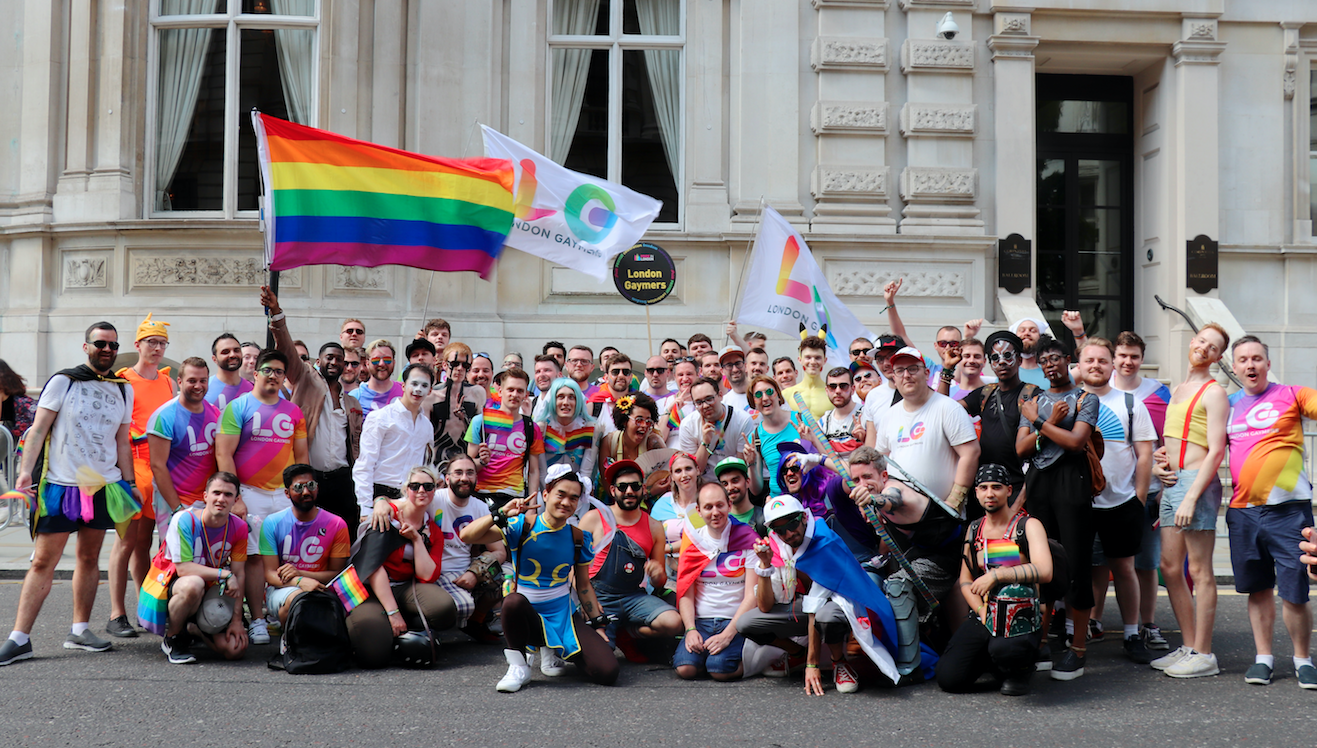 London-Gaymers-at-London-Pride-march-2018