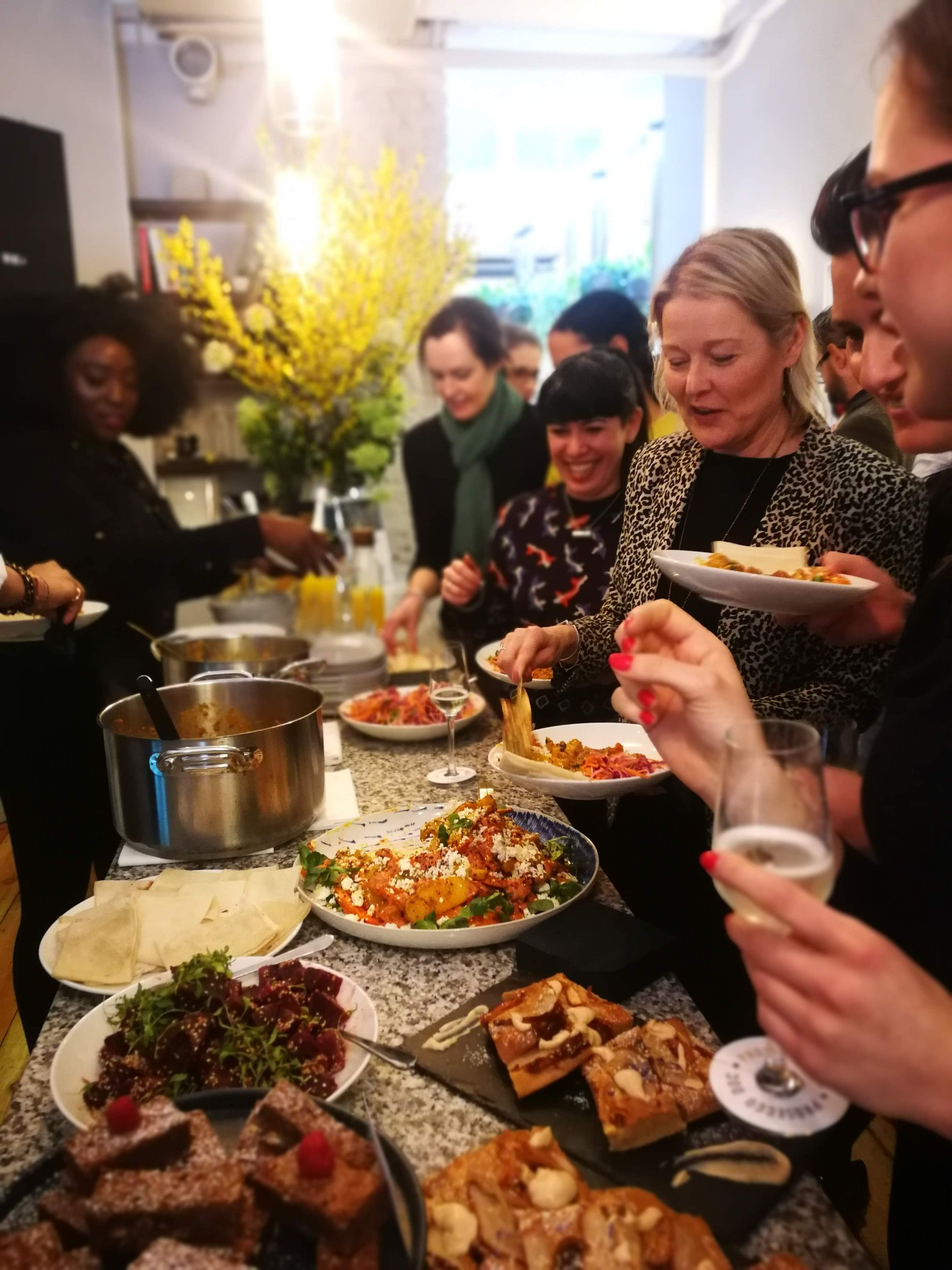 WiFi-Launch-Spread-of-food-at-Allbright