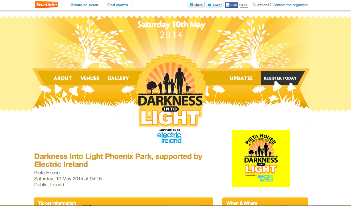 great examples of customised event pages on eventbrite eventbrite