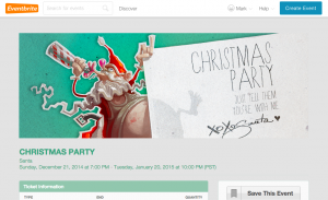 Christmas event pages - Christmas party