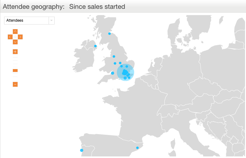 Eventbrite Marketing Analytics - Attendee Geography