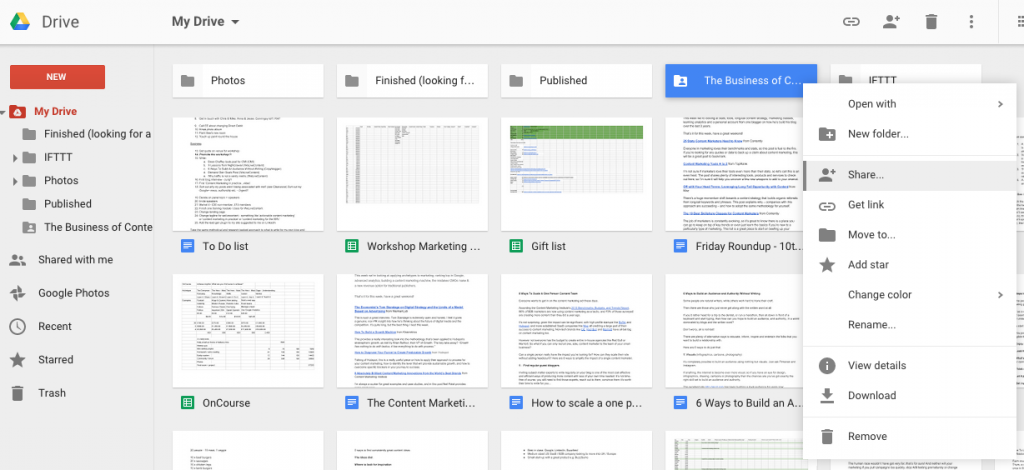 Google Drive - Event Planning Productivity Tools