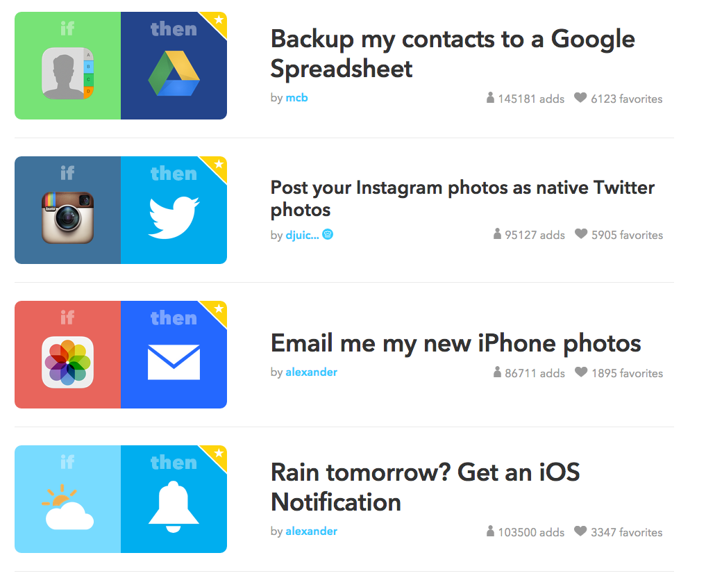 IFTTT- Event Planning Productivity Tools