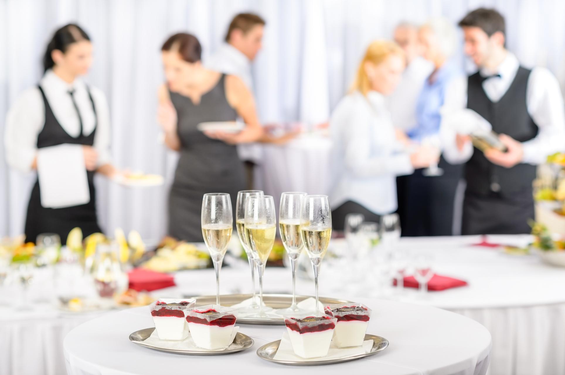 hiring an event caterer
